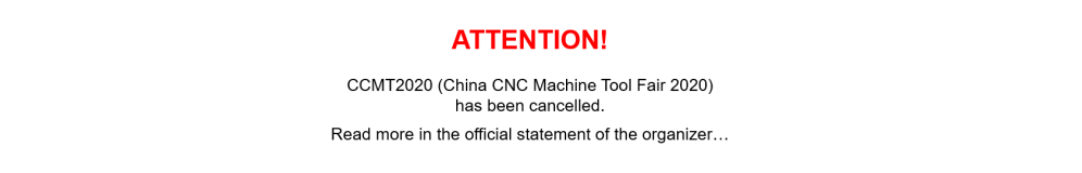 CCMT 2020 - cancellation notice